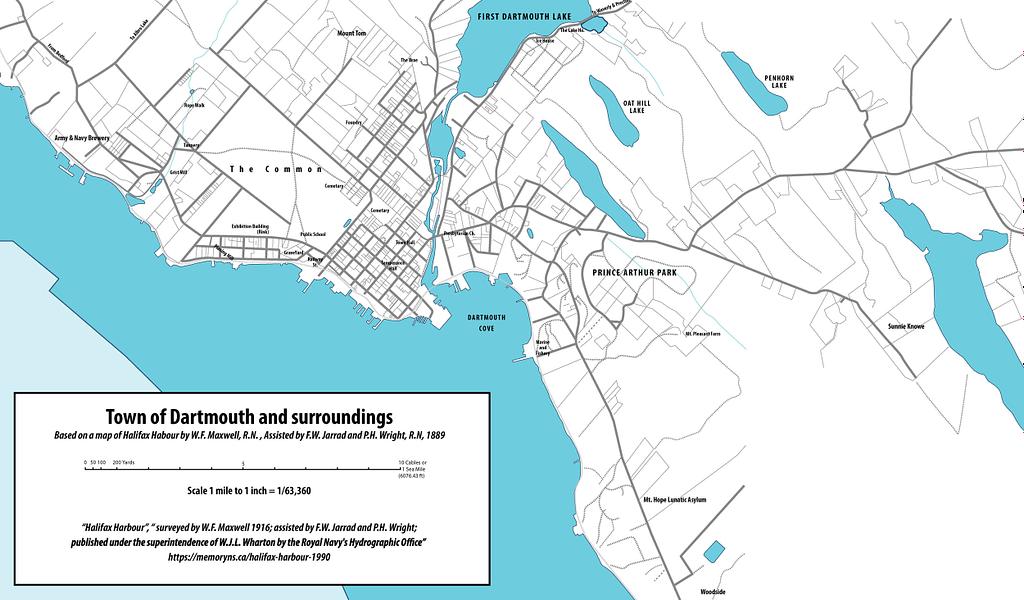 dartmouth-1916 map