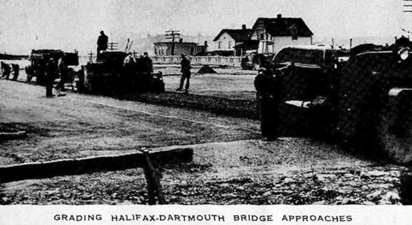 Grading Halifax-Dartmouth Bridge approaches